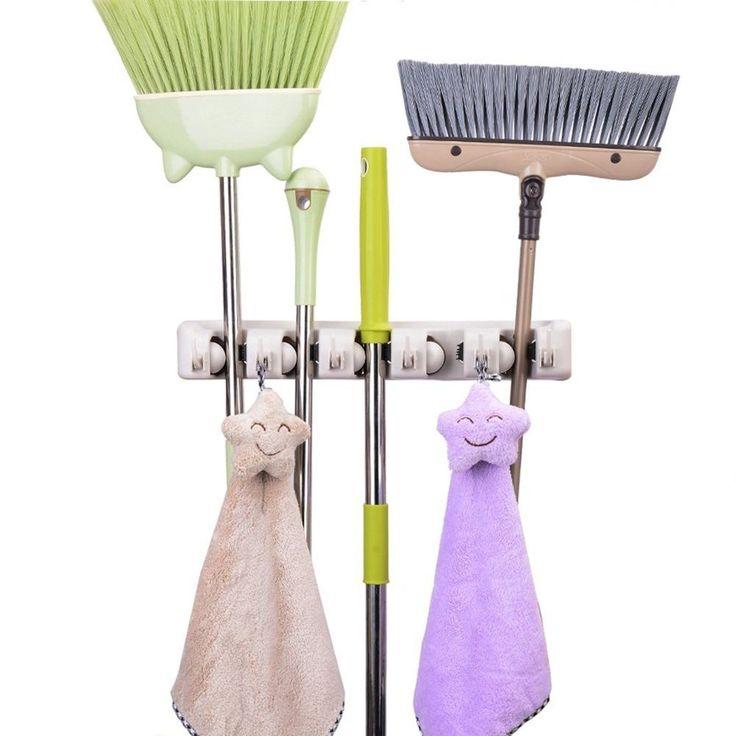 The 25 Best Broom Holder Ideas On Pinterest Garage