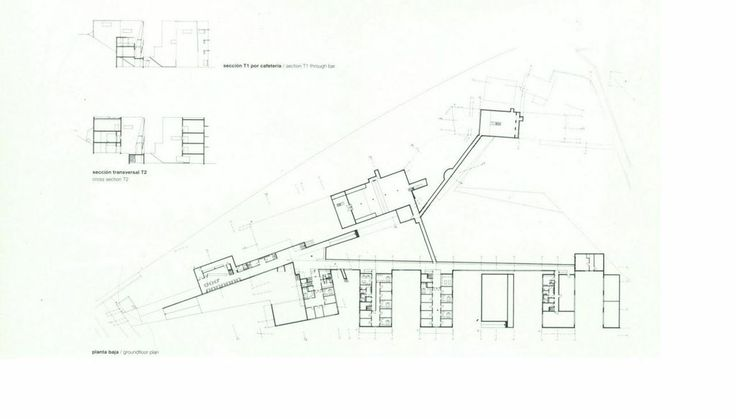 Plan, School Architecture of Oporto, by A Siza Vieira, arquiteto