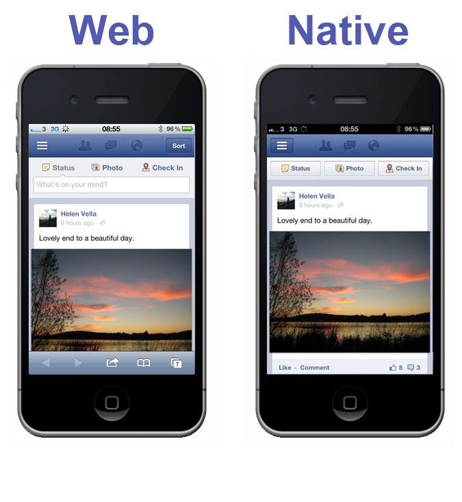 Advantages and Disadvantages of Native, Web and Hybrid Apps