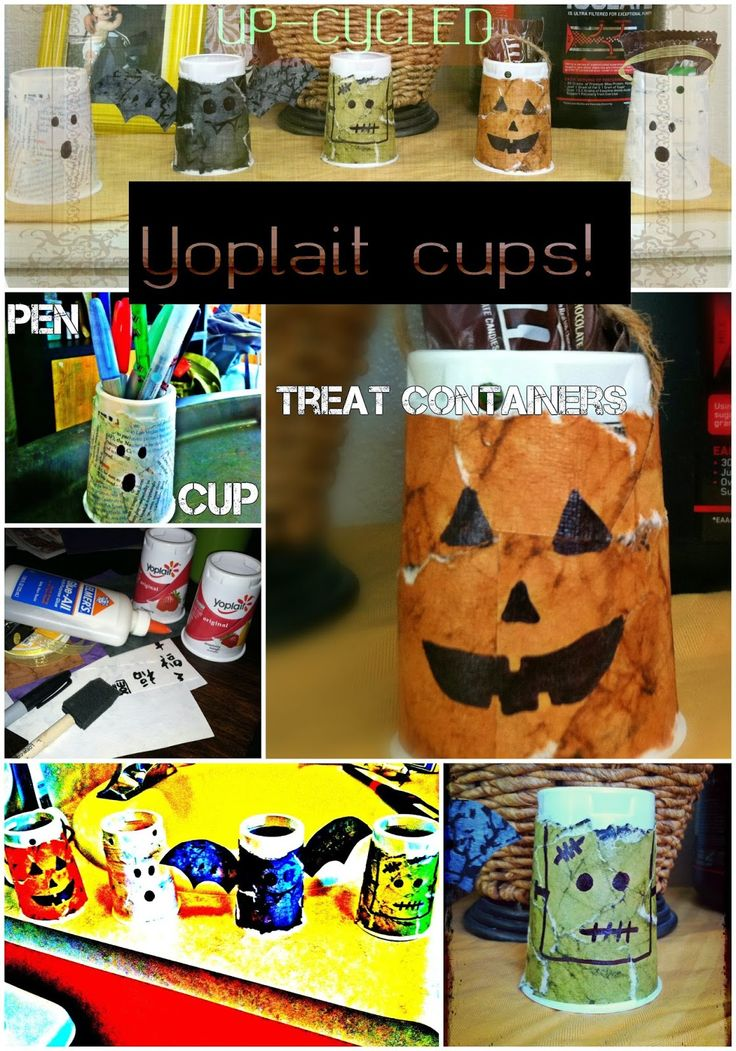 Crafty-Go-Lucky: Vintage Yo-plait Halloween 'treat containers' (and more) --Don't toss that yogurt!