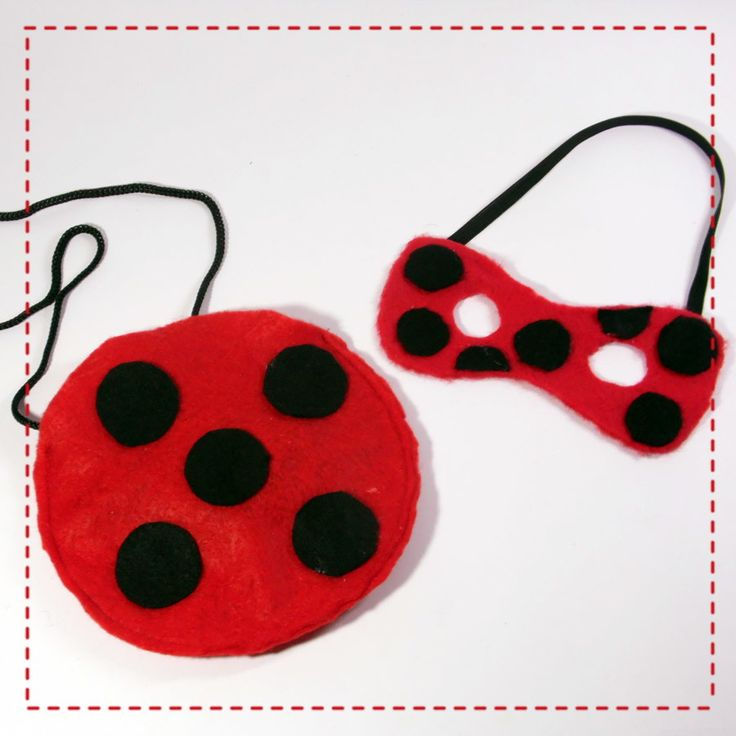 Conjunto Miraculous com bolsa e máscara. Bolsa e máscara em feltro.