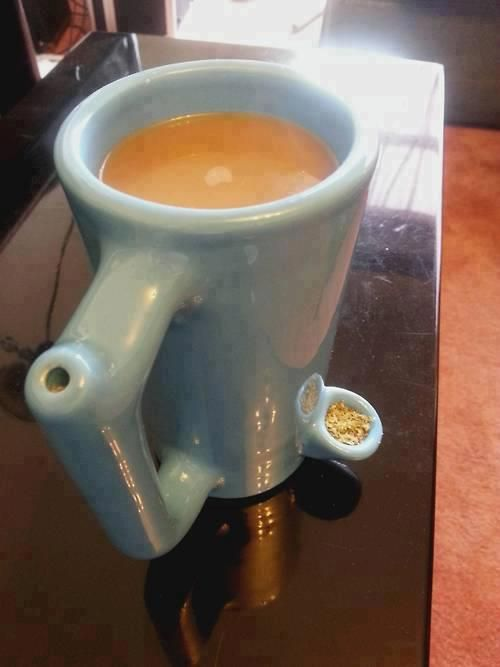 Coffee Bong! Wake and bake! Holy shit I need this
