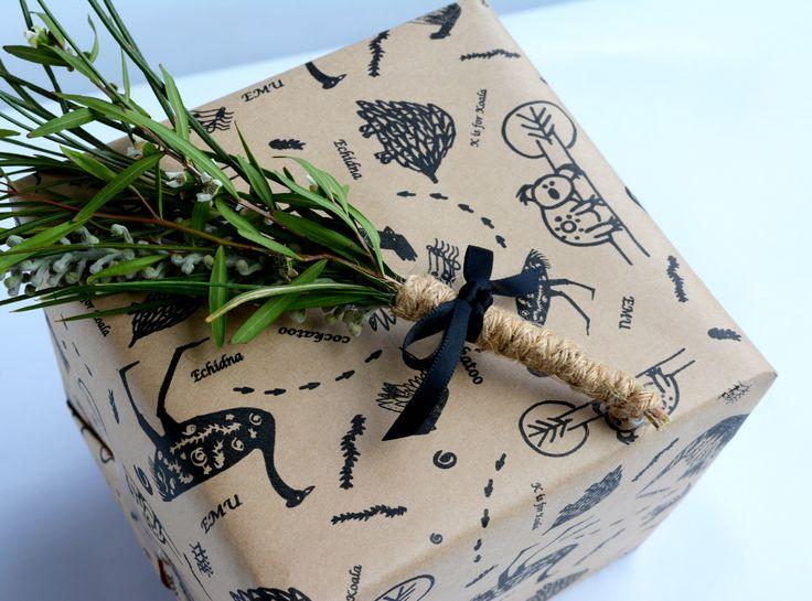 Native Australian animals #Barama #Giftwrap #Giftwrapping #Wrappingpaper #Giftpackaging #Giftideas #Craft #Paper #Creative #DIY #Art #native #Ribbon #animals