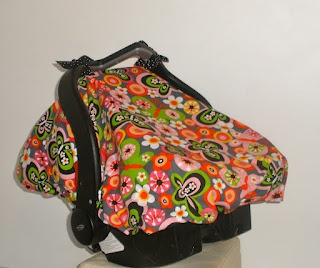Fitted Car Seat Canopy With Elastic pattern --add peekaboo window Free tutorial!!