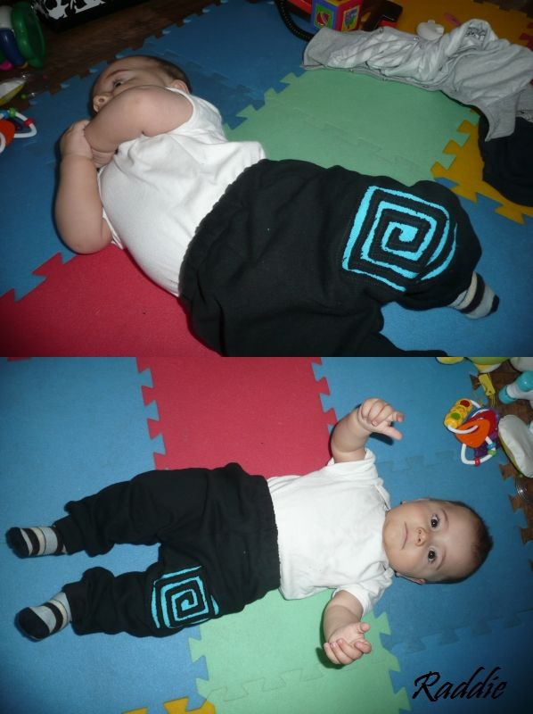 Hand made - sweatpants for little son...