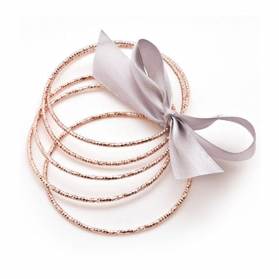 Rose Gold Bangles 5 Pcs Bracelet Blank Finding by HabitHobby