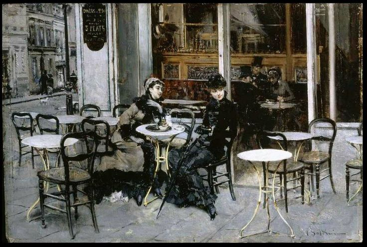 The Athenaeum - Conversation at the Cafe (Giovanni Boldini - 1877-1878)