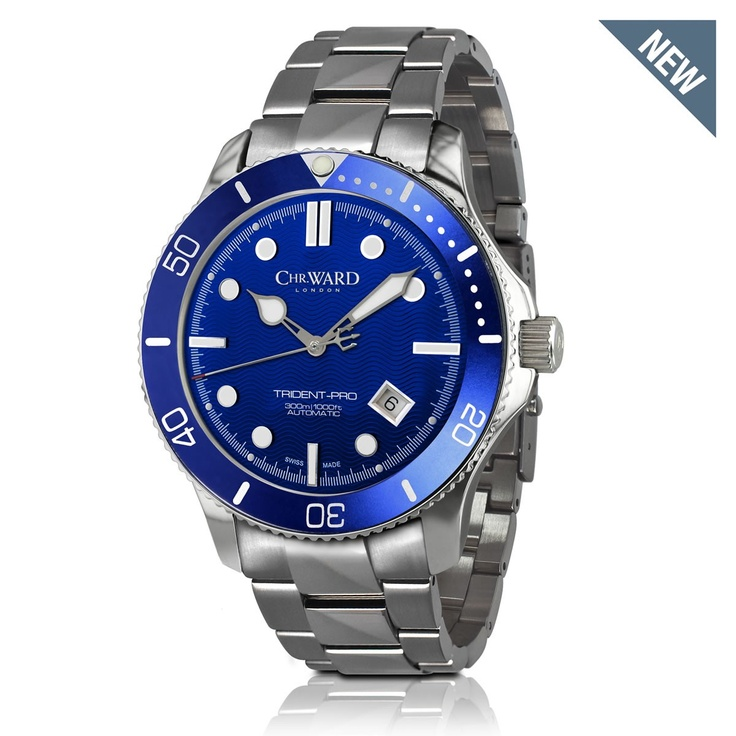 Christopher Ward: C60 Trident Automatic in blue.