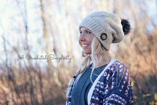 Crochet Pattern: Powderhorn Ski Slouch by A Crocheted Simplicity