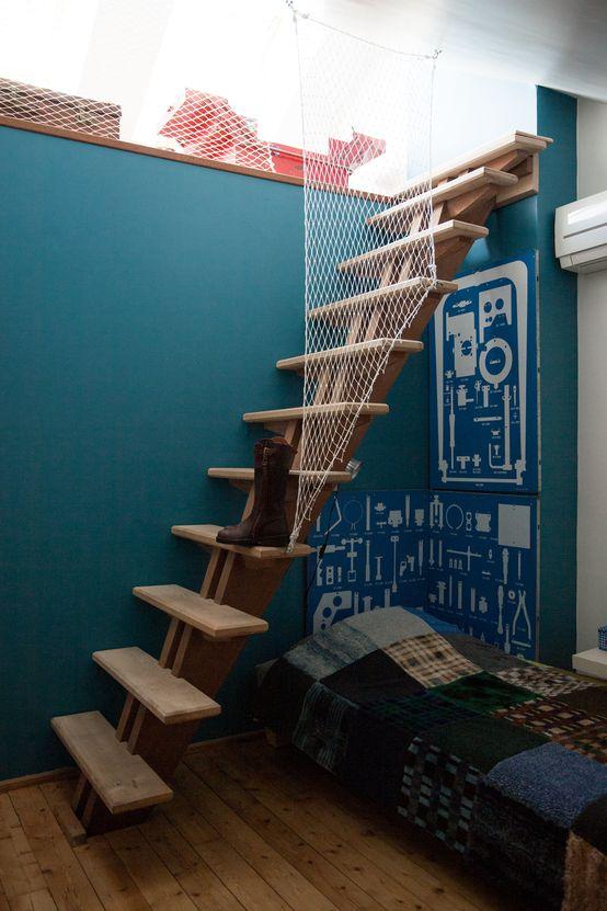 Une mezzanine qui fait rêver : Chambre d'enfant moderne 10 styles de Street Art pour bébé !