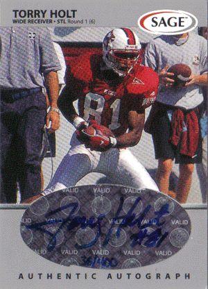 torry holt rams football card   torry holt autographed football card torry holt autographed football ...