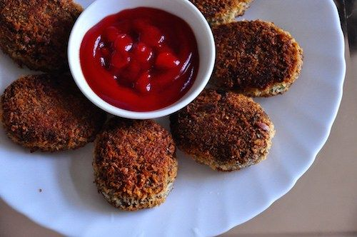 kerala beef cutlet. serve with ketchup kerala beef cutlet.