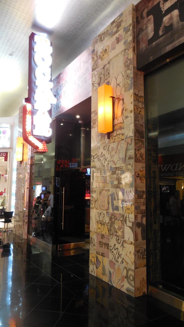 Graffiti wall tiles - Street Art Graffiti Feature Tiles Seen At Rock Bar In Las Vegas