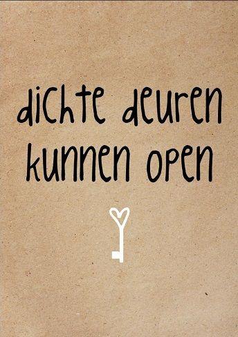 ☆ Dichte deuren kunnen open