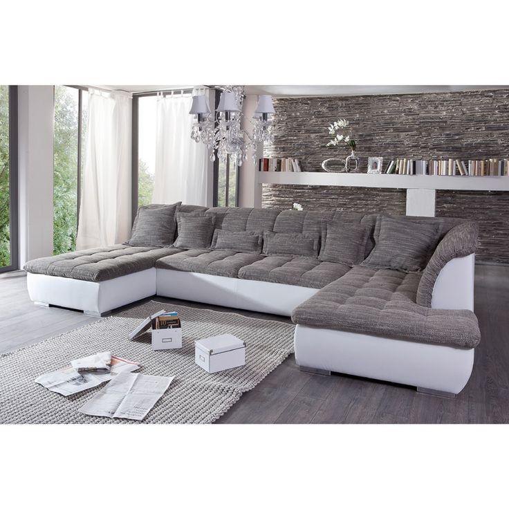 Die besten 25+ Sofa weiß grau Ideen auf Pinterest Couch weiß - wohnzimmer beige braun grau