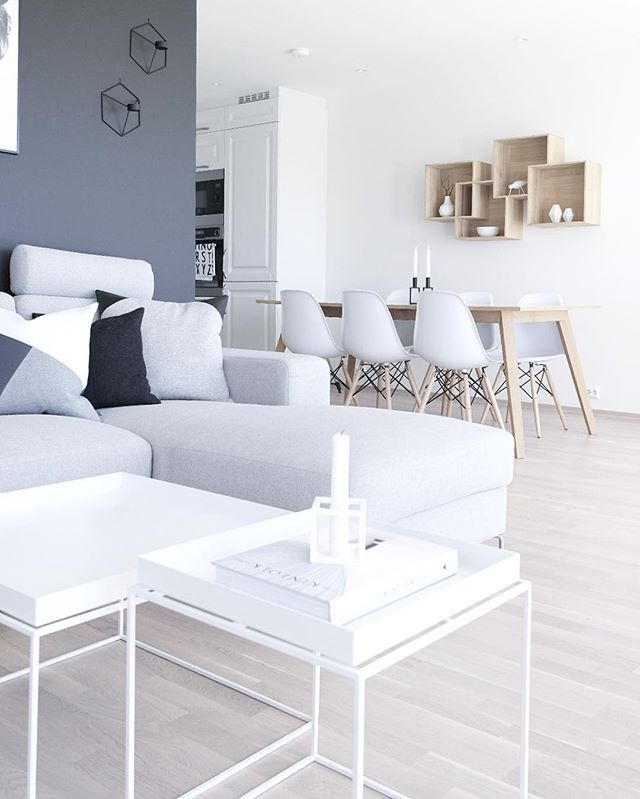White + more white + even more white + a skosh of gray = clean, general appeal. #neutralcolors #homestaging