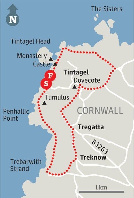 Map of Tintagel walk