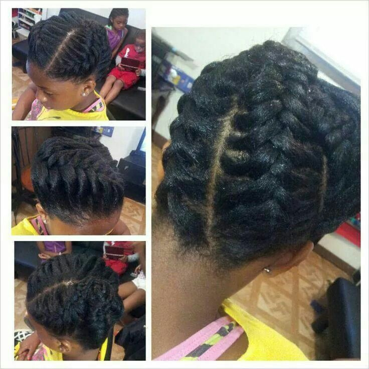 Underhand Braid Style Natural Hair Updo