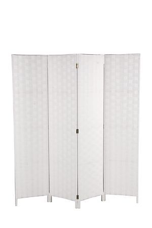 """This 4 panel screen is made with wood and has a stained paper weave finish. Screens are great to use as room dividers and for sectioning off areas in an open plan living space.<div class=""""pdpDescContent""""><ul><li> Paper weave</li><li> Hardwood frame</li><li> 4 x panel screen</li><li> No assembly required</li></ul></div><div class=""""pdpDescContent""""><BR /><b class=""""pdpDesc"""">Dimensions:</b><BR />L2xW160xH172 cm<BR /><BR /><div><span class=""""pdpDescCollapsible expand"""" title=""""Expand Cleaning and…"""