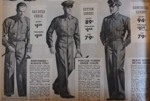 Mens vintage 1937 men's work uniforms