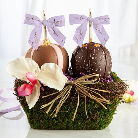 28 best mothers day gifts impress mom with chocolate images on spoil your mom this mothers day with our two apple garden basket each floral and moss gift basket comes with two gourmet caramel apples of your choice negle Gallery