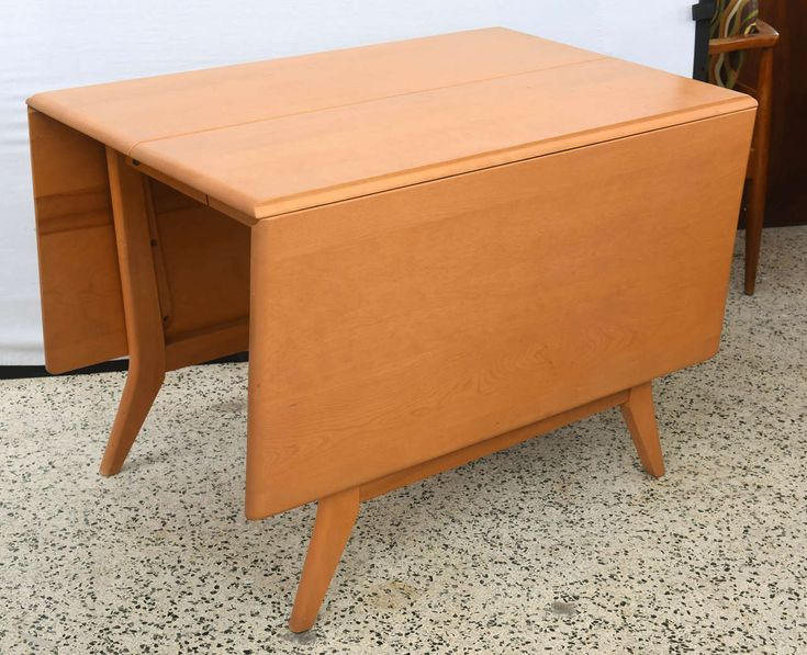 maple heywood wakefield dropleaf dining table 1950s saturday