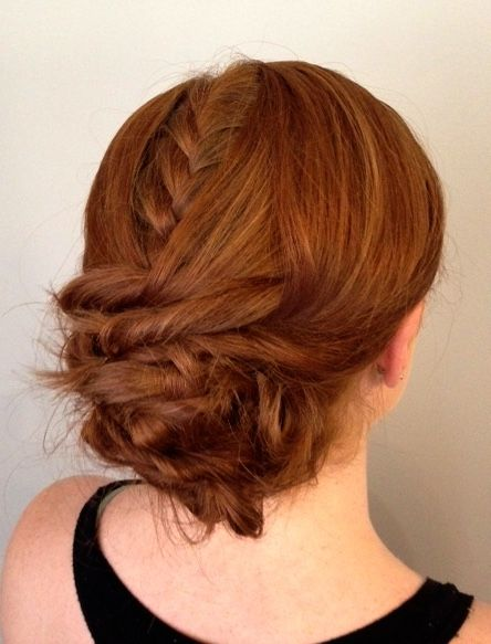 Peekaboo braid just something fun and different to do. Hair by Liz