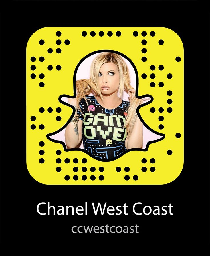 Chanel west coast Snapchat code add for humor funny beauty rap fashion lifestyle behind the scenes comedy adventure Hollywood life