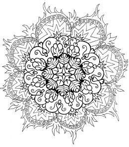 mandalas as snowflakes