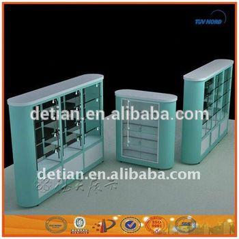 China custom fashion cosmetic display stand movable display rack show display…
