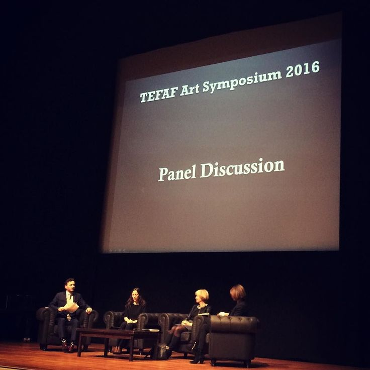 The @tefaf_maastricht Art Symposium panel discussion 'Informing The Art World - Speed Needs & Globalisation' is now underway chaired by Apollo editor Thomas Marks. #tefaf2016