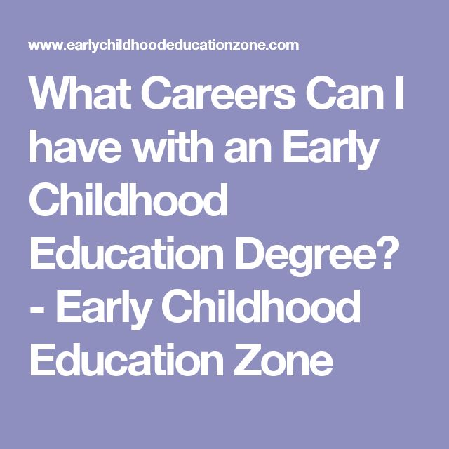 What Careers Can I have with an Early Childhood Education Degree? - Early Childhood Education Zone