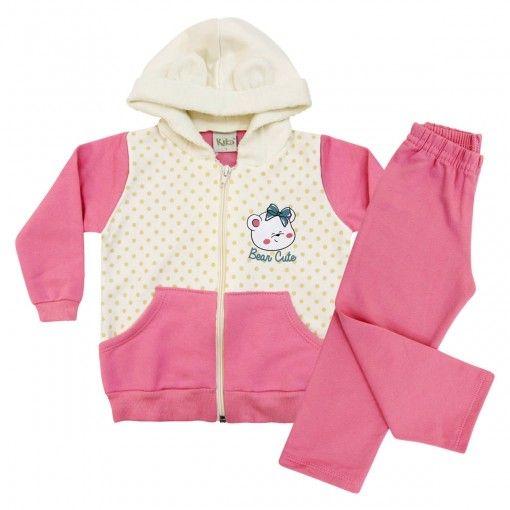 Compre Conjunto feminino infantil 100% algodão em moleton .Calça com elástico R$ 59,00 em 3x sem juros. Lançamentos outono /inverno com muitos modelos e cores. Loja infantil online.