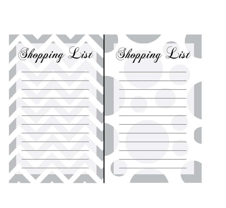 17 best Shopping List Templates \ Printables images on Pinterest - shopping list