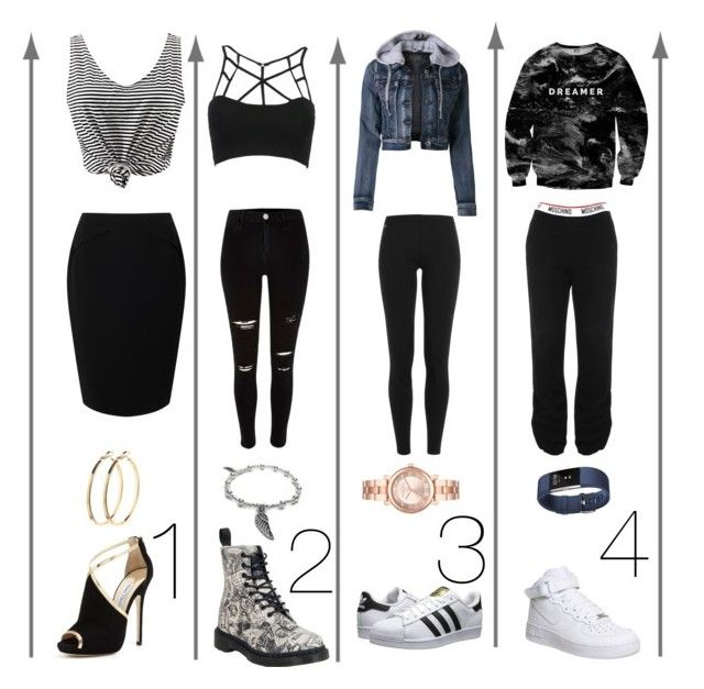 """""""1,2,3, or 4?!?!? Comment!!!"""" by haileywilkins1 ❤ liked on Polyvore featuring Jacques Vert, WithChic, River Island, LE3NO, Mr. Gugu & Miss Go, adidas Originals, Moschino, Jimmy Choo, Polo Ralph Lauren and Dr. Martens"""