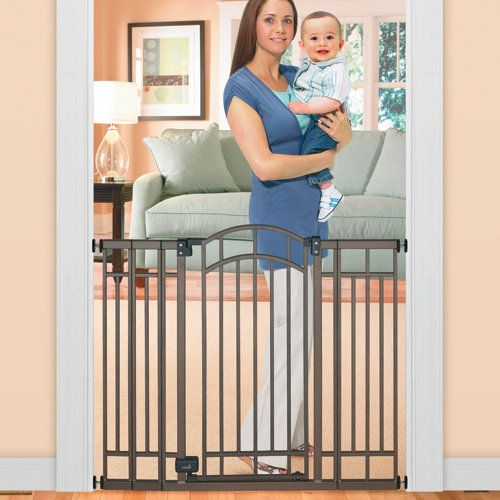 Stylish and Secure Extra Tall Walk-Thru Baby Safety Gate-----will need one when Damian starts crawling!