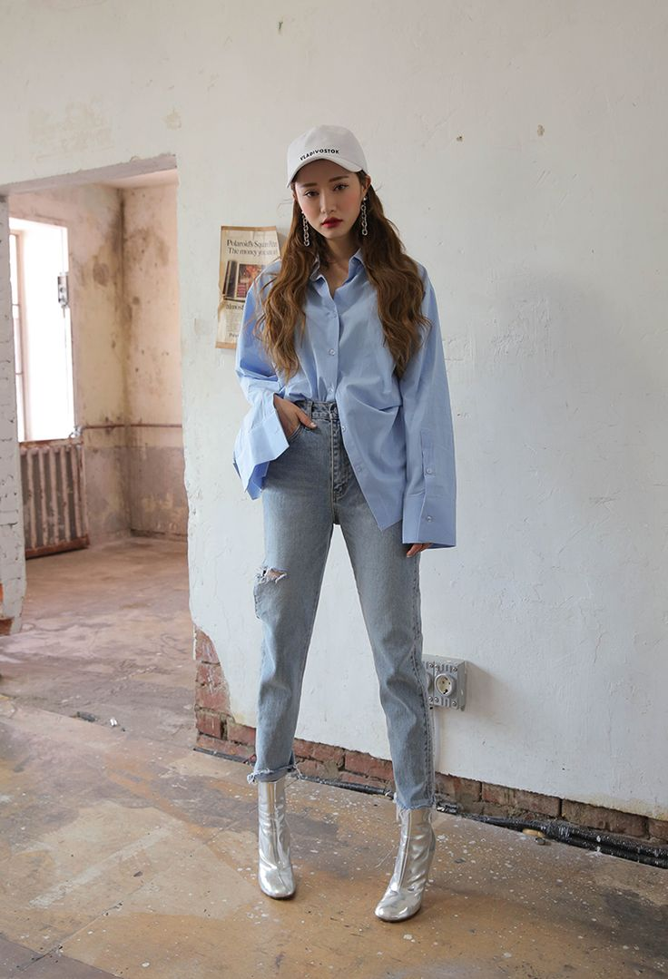Buttoned Extended Sleeve Button-Down Shirt | STYLENANDA