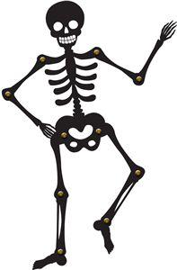 Silhouette Design Store: poseable halloween skeleton
