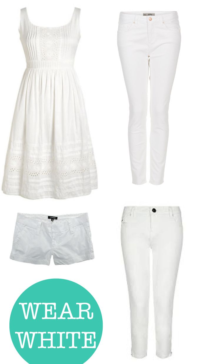 add some white to your wardrobe!