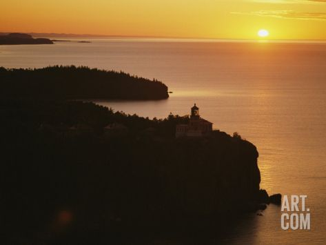 Split Rock Lighthouse Overlooks Lake Superior in Minnesota Photographic Print by Annie Griffiths Belt