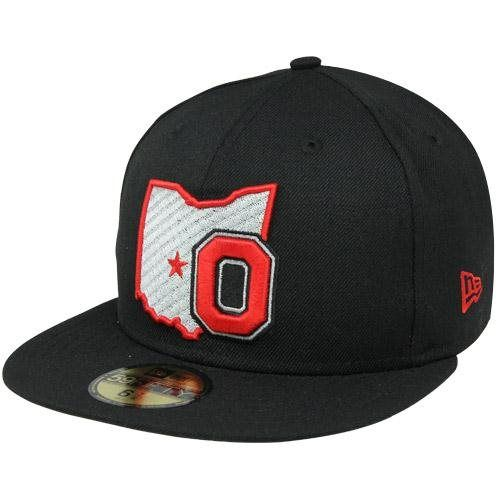 New Era Ohio State Buckeyes 59FIFTY State Fitted Hat - Black