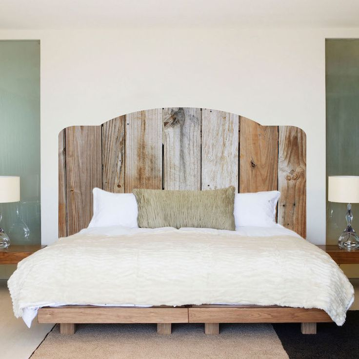 Rustic Wooden Headboard Mural Decal - Headboard Wall Decal Murals - Primedecals