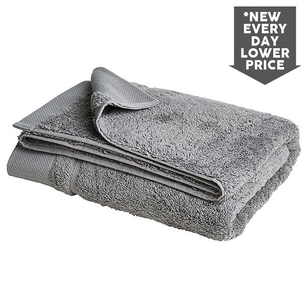 Egyptian Cotton Bath Towel - Platinum | Target Australia