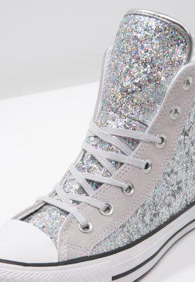 Der Klassiker im coolen Glitzer-Look. Converse CHUCK TAYLOR ALL STAR - Sneaker high - silver/mouse/white für 109,95 € (23.03.16) versandkostenfrei bei Zalando bestellen.