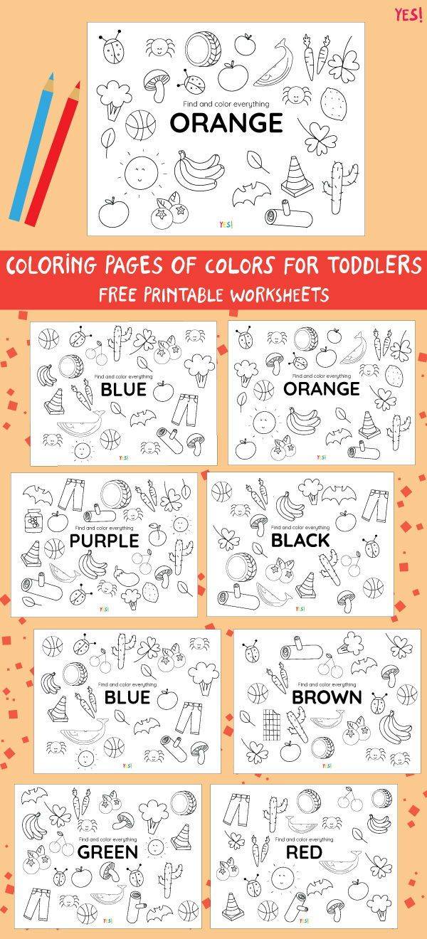 Printable Coloring Pages Of Colors Yes We Made This In 2020 Color Worksheets For Preschool Preschool Color Activities Color Activities For Toddlers [ 1320 x 600 Pixel ]