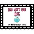 These word wall labels by Misty Durbin of 3rd Grade's a Hoot are perfect for your owl themed classroom.  Created with polka dots, bright colors, an...
