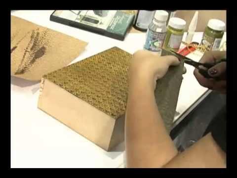 Mulher.com 08/07/2011 - Marisa Magalhães - Papel textura e envelhecimento em MDF