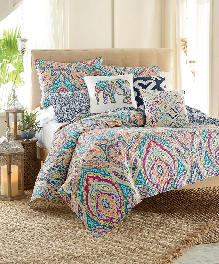 Feel Like You Re On A Warm Weathered Vacation With Bright Colorful Bedding
