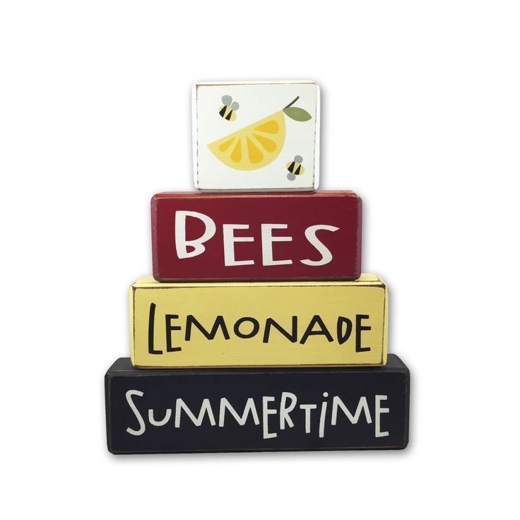 A personal favorite from my Etsy shop https://www.etsy.com/listing/386252010/summer-decoration-bees-lemonade