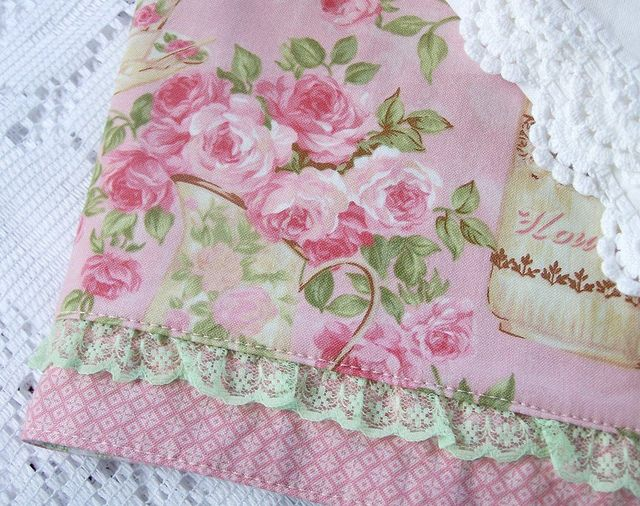 Shabby Cottage Roses Decorative Tea Towel . So Dreamy... Www.createdbycath.